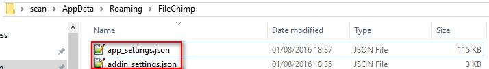 FileChimp config files